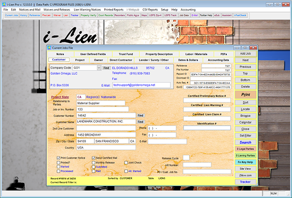 i-Lien - Construction Lien Notices & Mechanic's Lien Writer Software